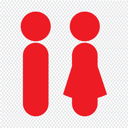 man and women wc sign: man and woman people icon Illustration design