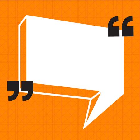 testimonial: Quotation Mark Speech Bubble sign icon Illustration design