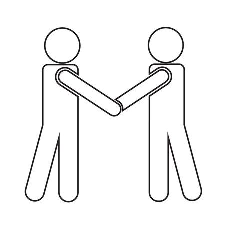mans: Business Mans Handshake Icon Illustration design Illustration