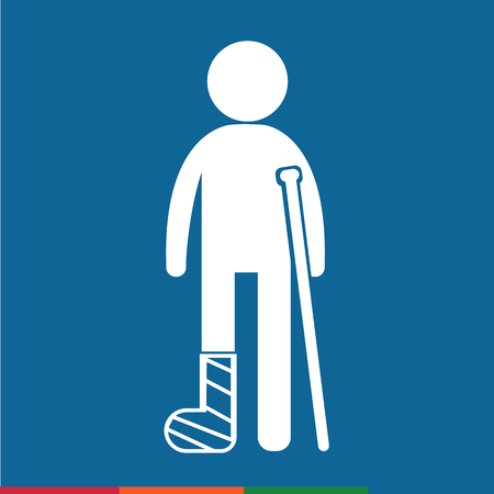 cast in place: People Broken Arm and Leg Icon Illustration design