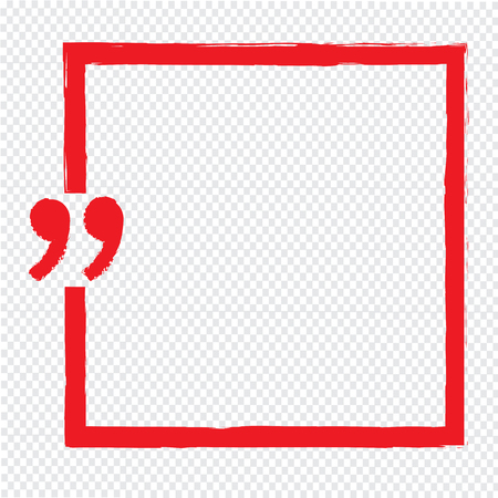 Quote bubble blank icon Illustration design Illustration