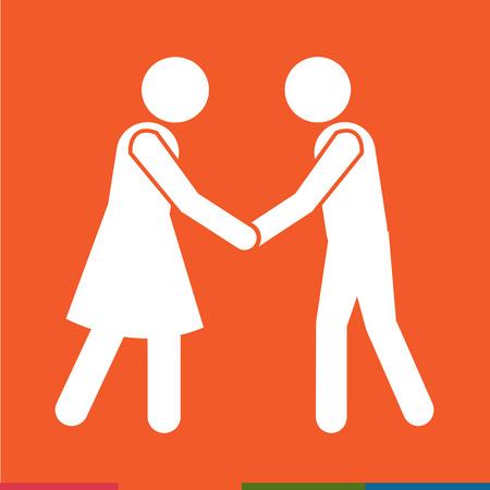 Business Mans Handshake Icon Illustration design Illustration