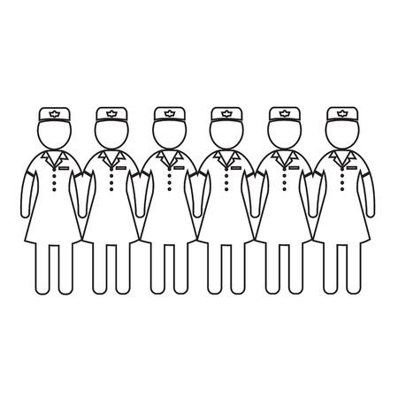 cabin attendant: Air Hostess Stewardess icon Illustration design