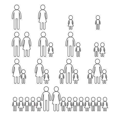 homosexual couple: Family Icon  Illustration design Illustration