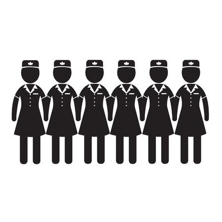 stewardess: Air Hostess Stewardess icon Illustration design