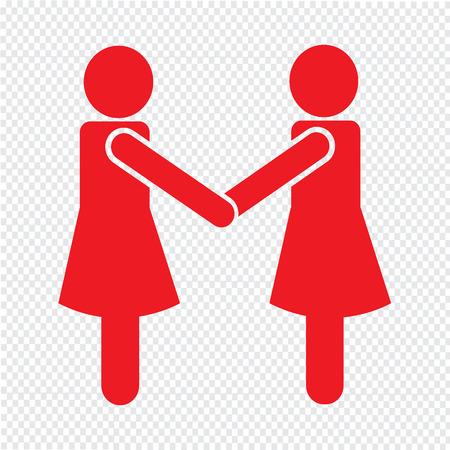 Design Illustration affaires Mans Handshake Icône Banque d'images - 52804640