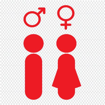 female symbol: man and woman people icon Illustration design