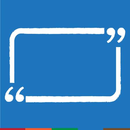 Quote bubble blank icon Illustration design