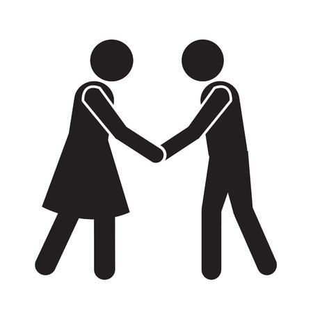 Negocios apretón de manos Mans Icono Ilustración de diseño