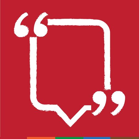 feedback sticker: Quote bubble blank icon Illustration design Illustration