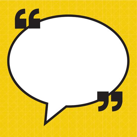 quotation: Quotation Mark Speech Bubble sign icon Illustration design