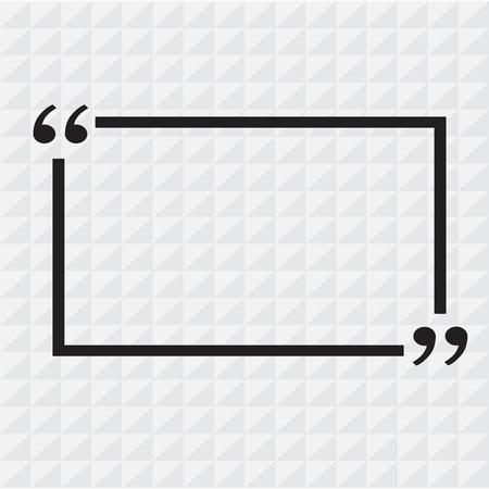Quotation Mark Speech Bubble sign icon Illustration design Vector Illustration