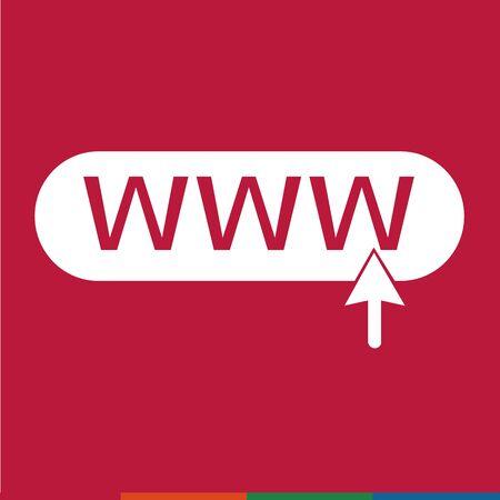 www: www web icon Illustration design
