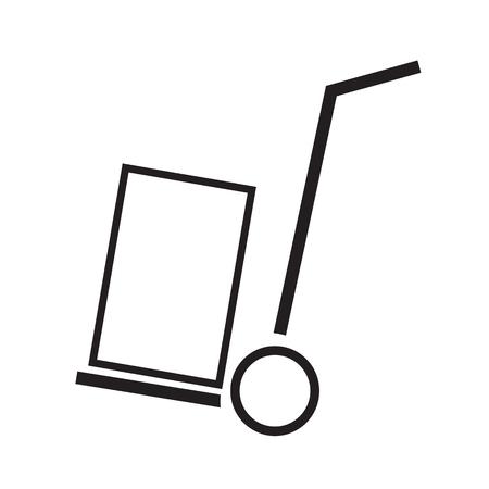 Thin Line Handcart Icon Illustration design Vektorové ilustrace