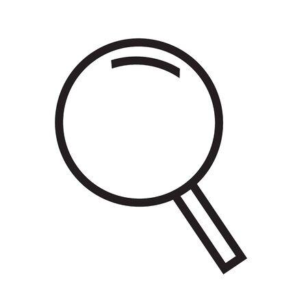 interface menu tool: Thin line magnifier icon Illustration design Illustration