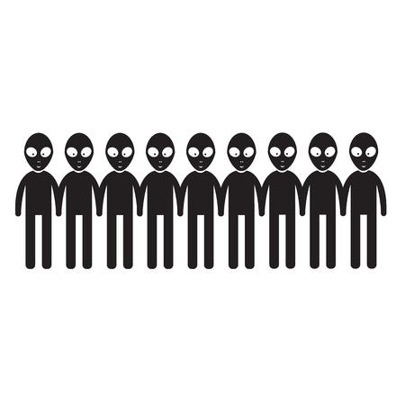 arrive: Alien Icon Illustration design
