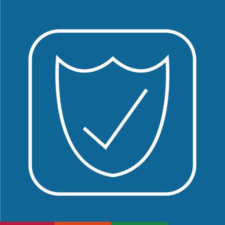 approbation: Thin Line Secure Icon Illustration design
