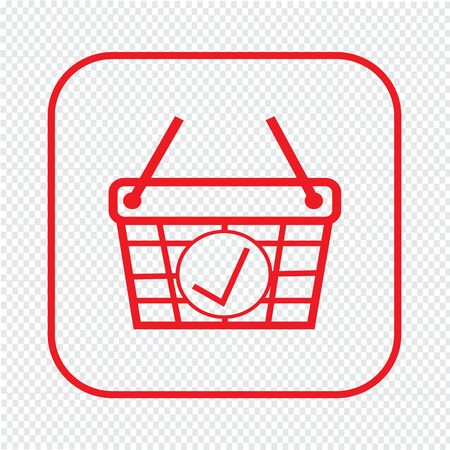 e commerce icon: Thin Line Shopping Basket Icon Illustration design