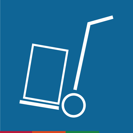 handcart: Thin Line Handcart Icon Illustration design