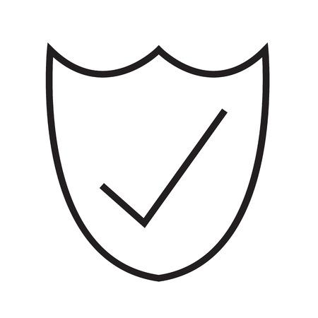 checkout line: Thin Line Secure Icon Illustration design