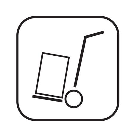 handcart: Thin Line Handcart Icon Illustration design