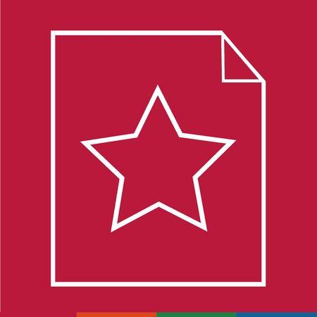 stat: Thin line star document icon Illustration design Illustration