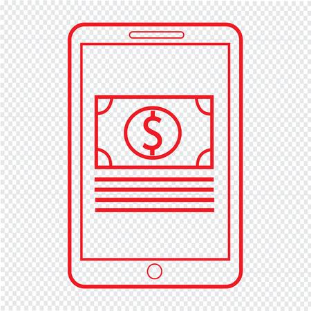 e magazine: Thin Line Mobile Payment Icon Illustration design