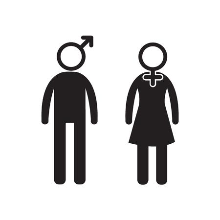hetero: Gender Icon people icon Illustration design Illustration