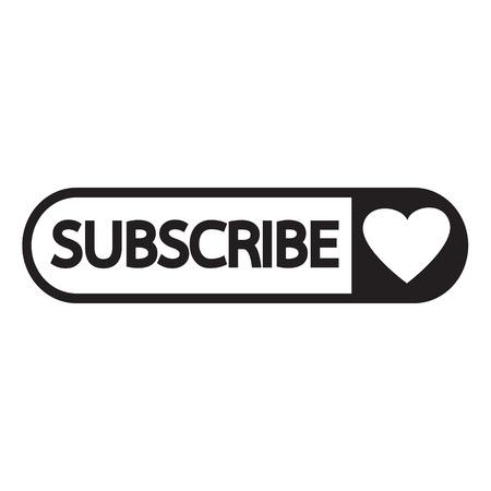 subscribe: Subscribe icon symbol Illustration design Illustration