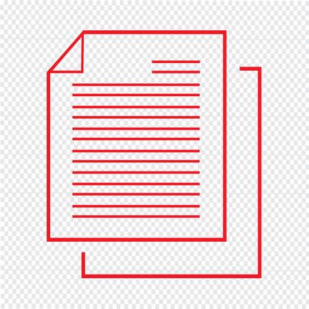 copy writing: Thin line document icon Illustration design