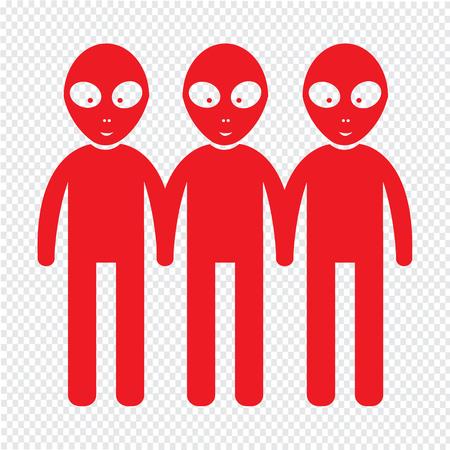 autopsy: Alien Icon Illustration design
