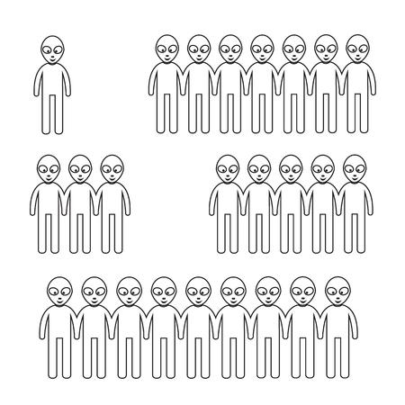 abduction: Alien Icon Illustration design