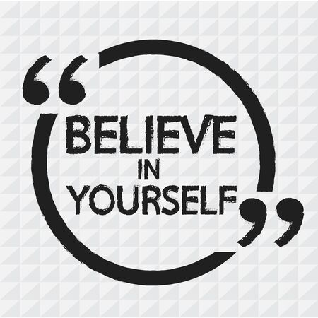 believe: BELIEVE IN YOURSELF Lettering Illustration design