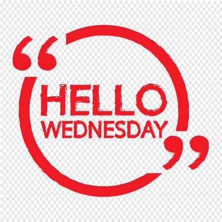 wednesday: HELLO WEDNESDAY Illustration Design Illustration