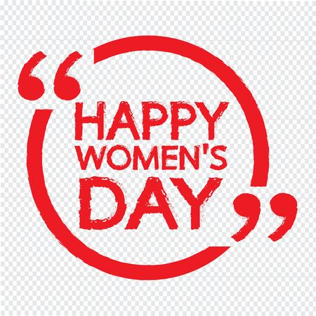 young womens: HAPPY WOMEN DAY Illustration design Illustration