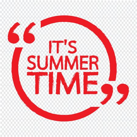 Es ist Sommer Beschriftung Illustration Design Vektorgrafik