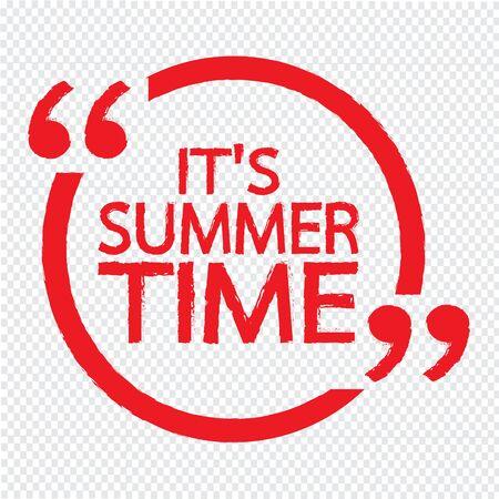 ITS SUMMER TIME Lettering Illustration design Illustration