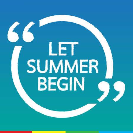 empezar: LET verano comienzan deletreado diseño Ilustración Vectores
