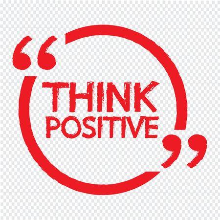 think positive: THINK POSITIVE Lettering Illustration design Illustration