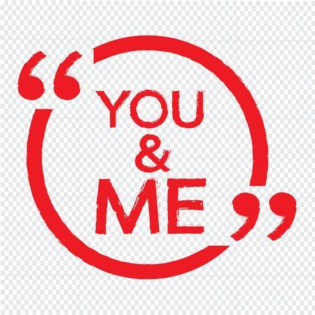 me: YOU AND ME Illustration Design