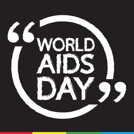relaciones sexuales: SIDA DÍA MUNDIAL letras Ilustración de diseño
