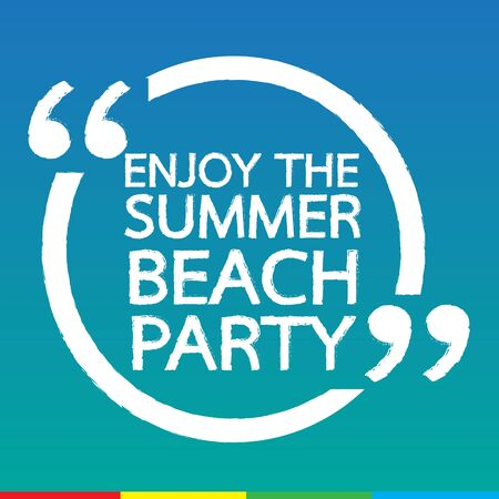 beach party: ENJOY THE SUMMER BEACH PARTY Lettering Illustration design
