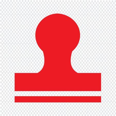 qualify: Rubber Stamp icon Illustration design