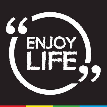 ENJOY LIFE lettering Illustration design