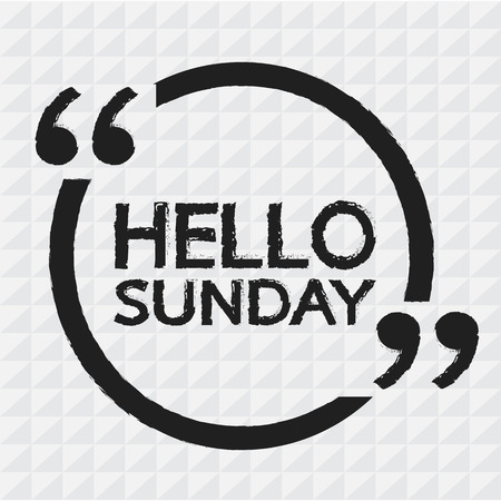 sunday: HELLO SUNDAY Illustration Design