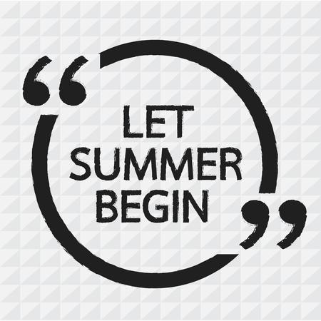 empezar: LET verano comienzan deletreado dise�o Ilustraci�n Vectores