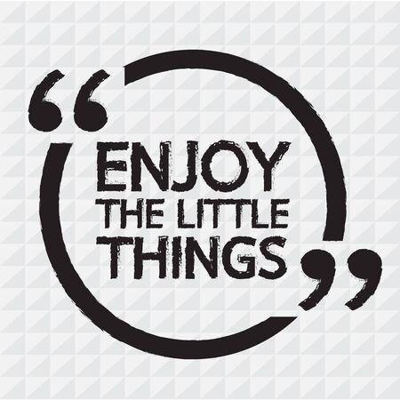 ENJOY THE LITTLE THINGS Lettering Illustration design