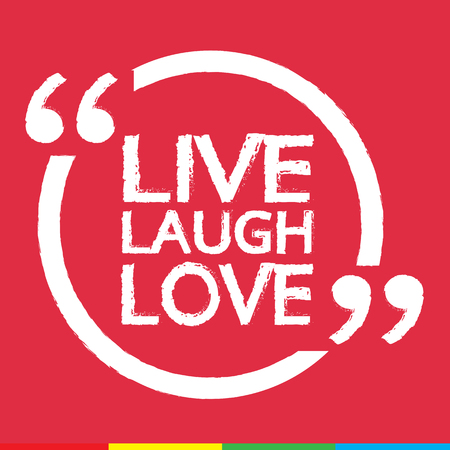 laughs: LIVE LAUGH LOVE Lettering Illustration design