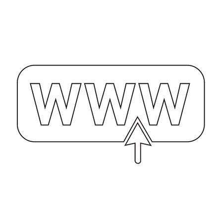 worldwideweb: www web icon Illustration design