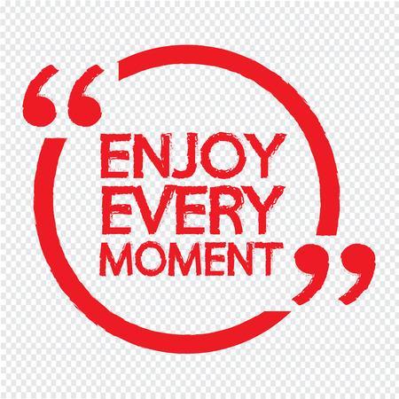 enjoy: ENJOY EVERY MOMENT lettering Illustration design Illustration